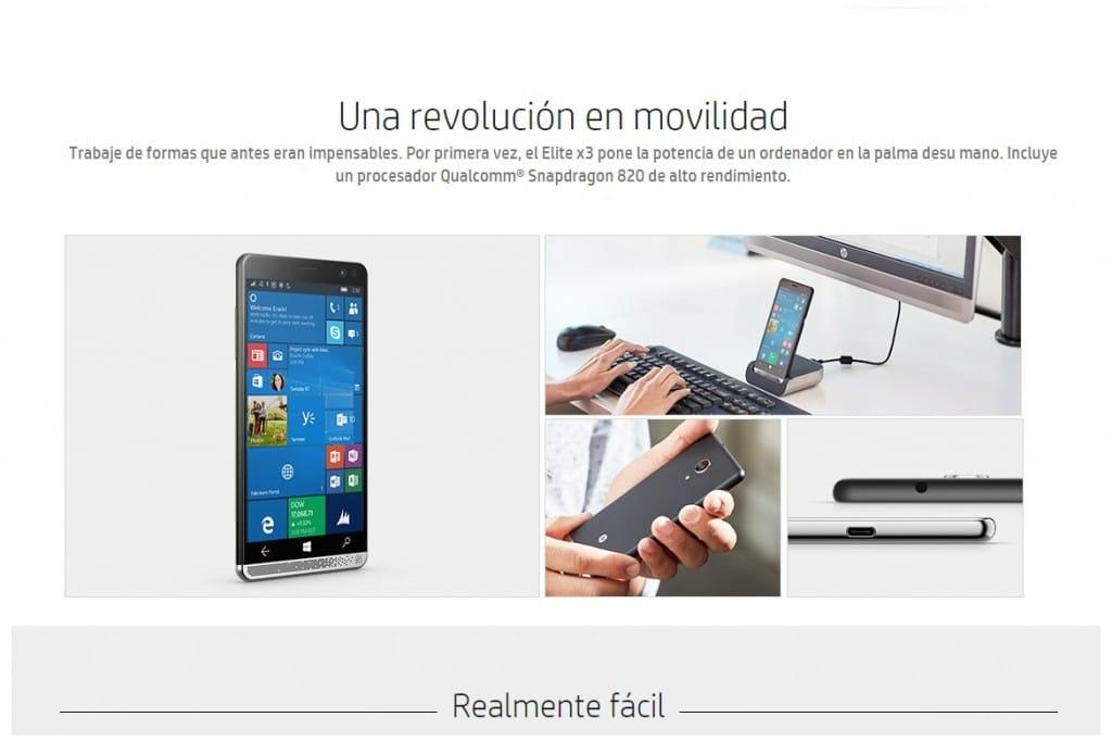 HP Elite x3, el nuevo phablet 3x1 de HP