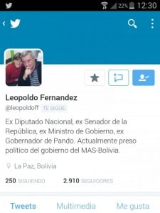 Leopoldo Fernández ex-Senador