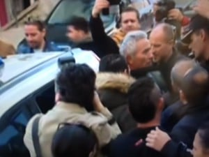 Andrés Bódalo en el momento de la detención
