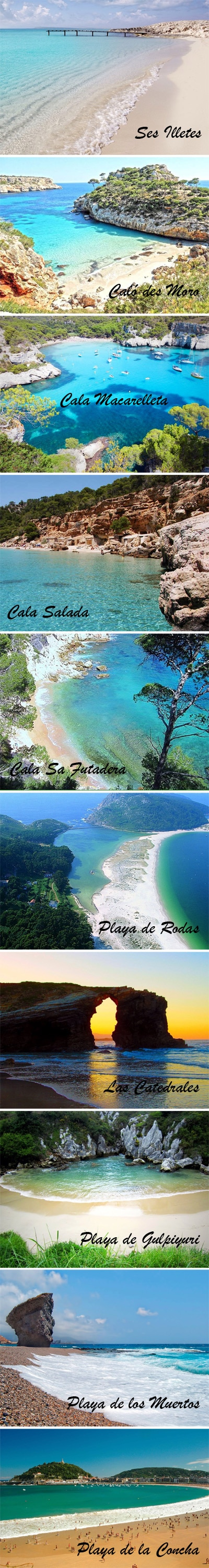 las mejores playas de España