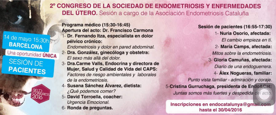 Sesión para pacientes de Endometriosis en el 2º Congreso de la SEUD