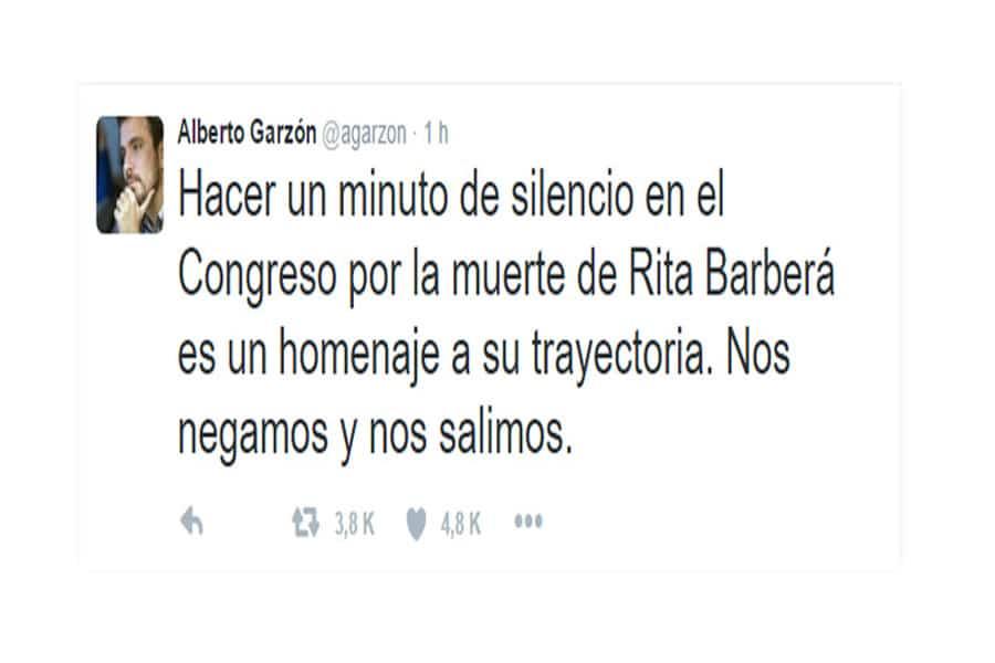 Minuto de silencio de Rita Barberá