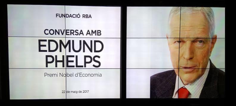 Edmund Phelps en la Fundacion RBA