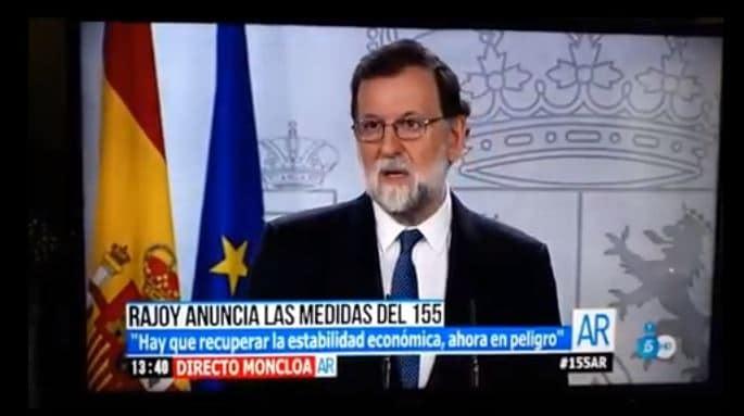Mariano Rajoy anuncia las medidas del artículo 155