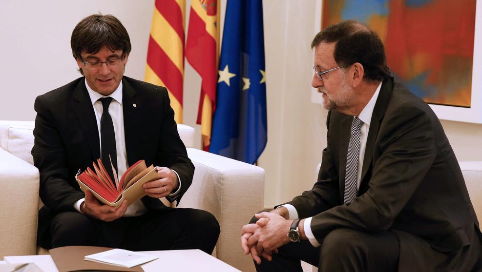 Rajoy y Puigdemont