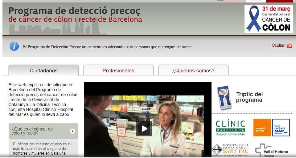 programa de detección del cáncer de colon y de recto en Barcelona