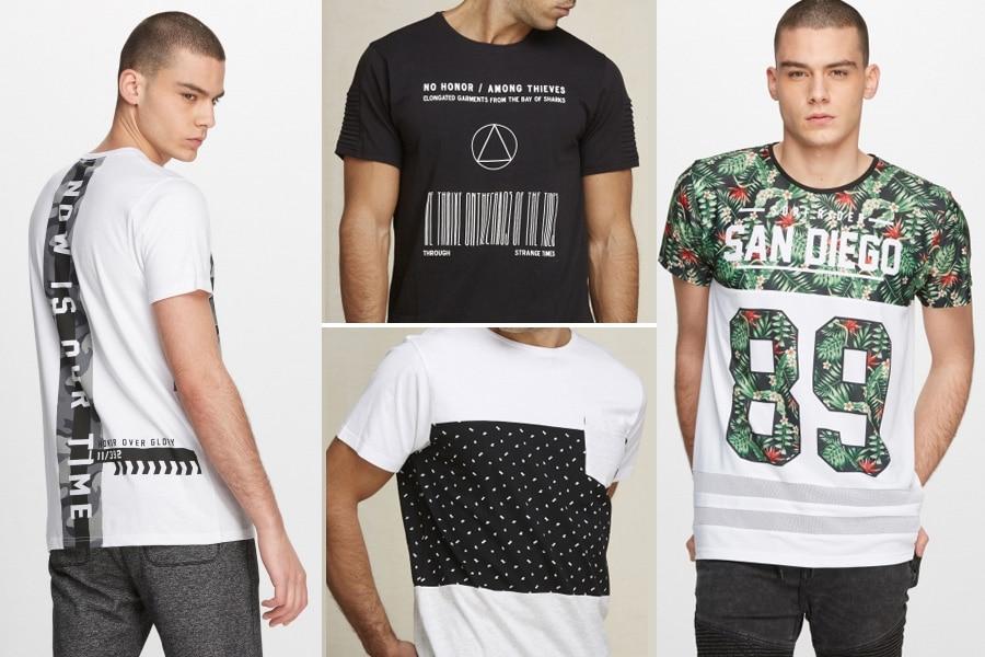 La camiseta masculina, la prenda imprescindible del verano.