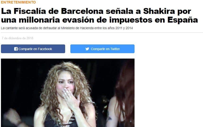 Piqué Shakira y los impuestos