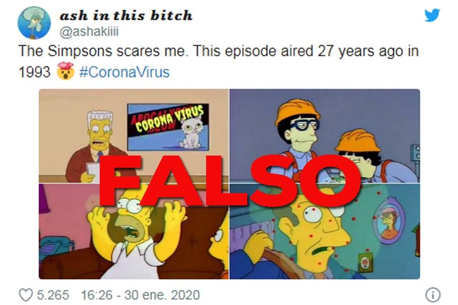 Falsedades sobre el coronavirus y los Simpson
