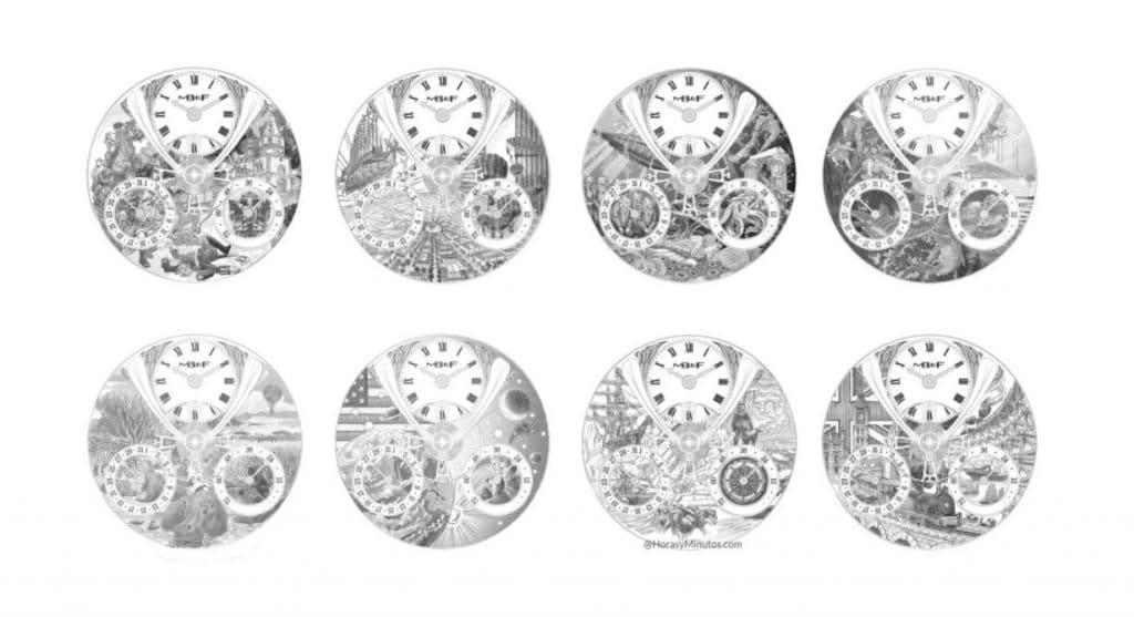 Colección de los Relojes de Julio Verne realizada por MB&F