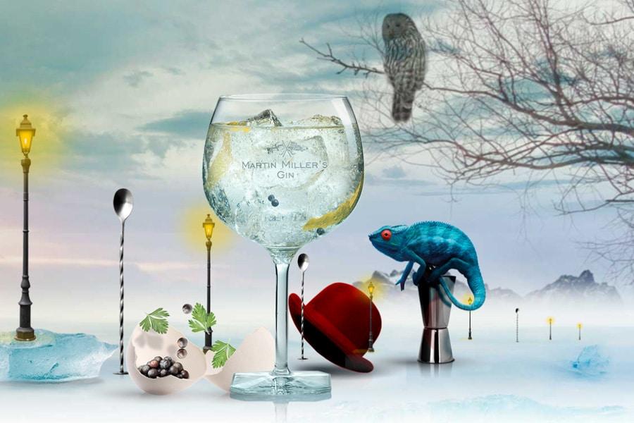 La ginegra, Martin Miller's, un valioso condimento para innumerables recetas de la gastronomía mediterránea.